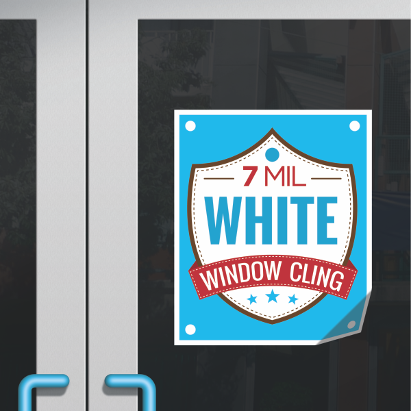 window cling white